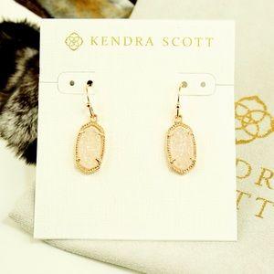 Kendra Scott Lee Earrings White Drusy rose gold